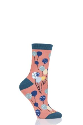 Ladies 1 Pair Thought Nettie Balloon Bamboo and Organic Cotton Socks Apricot 4-7 Ladies