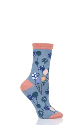 Ladies 1 Pair Thought Nettie Balloon Bamboo and Organic Cotton Socks