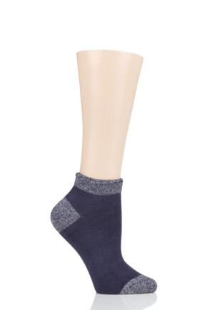 Ladies 1 Pair Thought Glister Bamboo and Organic Cotton Trainer Socks