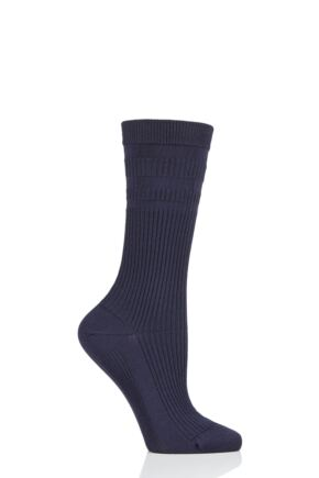 Ladies 1 Pair Thought Modal and Recycled Polyester Diabetic Socks Indigo 4-7 Ladies