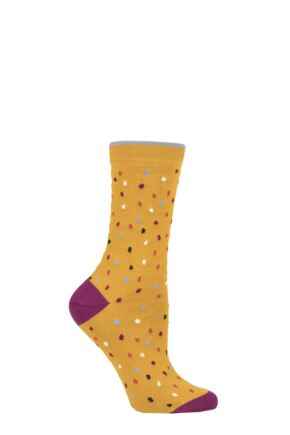 Ladies 1 Pair Thought Emme Spots Bamboo and Organic Cotton Socks