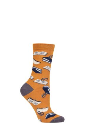 Ladies 1 Pair Thought Marley Bookworm Bamboo and Organic Cotton Socks