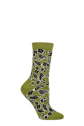 Ladies 1 Pair Thought Essie Forest Animals Organic Cotton Socks