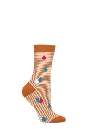 Ladies 1 Pair Thought Juliette Raindrop Bamboo and Organic Cotton Socks