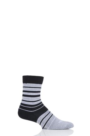 Mens and Ladies 1 Pair Thorlos Striped Crew Socks