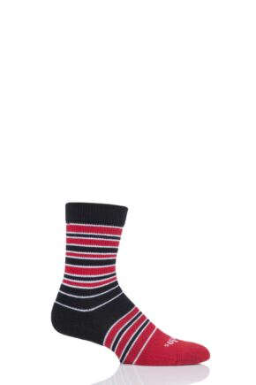 Mens and Ladies 1 Pair Thorlos Striped Crew Socks