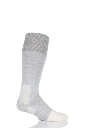Mens and Ladies 1 Pair Thorlos Mountaineering Thick Cushion Socks With Wool and Thorlon Light Grey 5-8