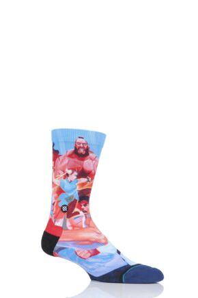 Mens 1 Pair Stance Street Fighter II Cotton Blend Socks
