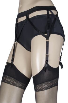 Ladies Couture Cross Strap Suspender Belt
