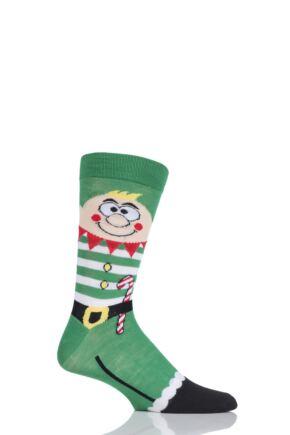 Mens 1 Pair SockShop Christmas Novelty Socks Elf 6-11