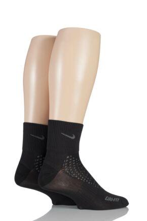 Mens and Ladies 2 Pair Nike Anti Blister Running Light Quarter Socks