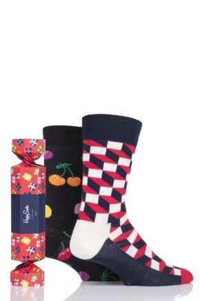 Happy Socks 2 Pair Christmas Cracker Gift Boxed Socks