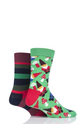 Happy Socks 2 Pair Christmas Cracker Gift Boxed Socks