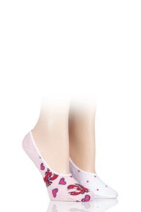 Ladies 2 Pair SOCKSHOP Wild Feet Novelty Ped Cotton Socks