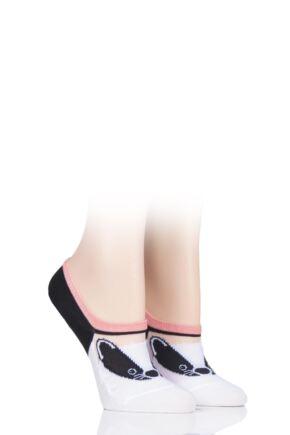 Ladies 2 Pair SOCKSHOP Wild Feet Novelty Mesh Ped Cotton Socks