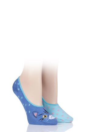 Ladies 2 Pair SOCKSHOP Wild Feet Invisible Socks