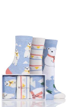Ladies 3 Pair SockShop Wild Feet Gift Boxes