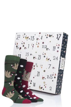 Mens 24 Pair SockShop Wild Feet Christmas Advent Calendar Socks