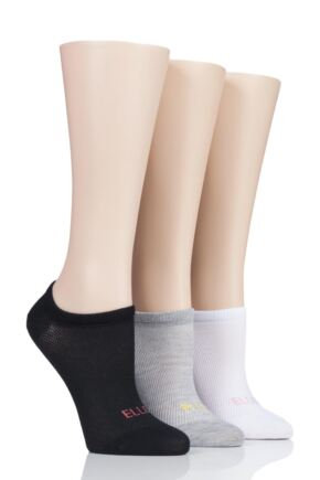 Ladies 3 Pair Elle Sport Mesh Bamboo No Show Socks