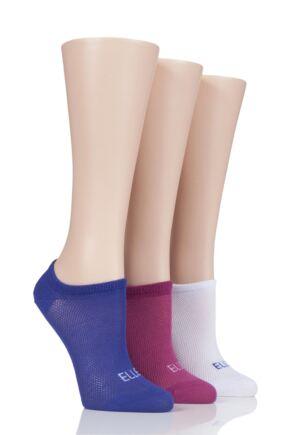 Ladies 3 Pair Elle Sport Mesh Bamboo No Show Socks