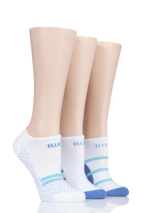 Ladies 3 Pair Elle Bamboo Cushioned No Shows