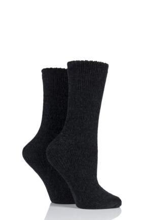 Ladies 2 Pair Elle Chenille Boot Socks