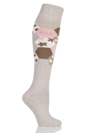 Ladies 1 Pair Elle Wool Blend Winter Knee High Socks