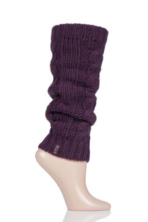 Ladies 1 Pair Elle Chunky Cable Knit Leg Warmers