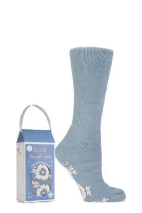 Ladies 1 Pair Elle Gift Boxed Cashmere-Like Slipper Socks