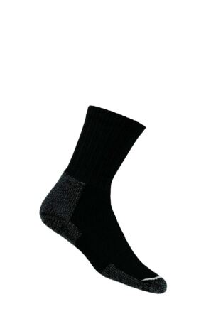Mens 1 Pair Thorlos Hiking Thick Cushion Socks With Thorlon Black 8.5-12