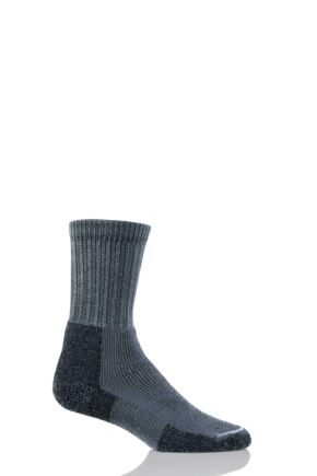 Mens 1 Pair Thorlos Hiking Thick Cushion Socks With Thorlon Pewter 8.5-12