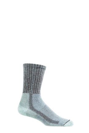 Mens 1 Pair Thorlos Light Hiking Moderate Cushion Socks With Thorlon Walnut Heather 8.5-12