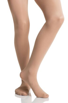 Girls 1 Pair Silky Dance Shimmer Full Foot Tights