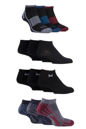 Mens 12 Pair SOCKSHOP Fresh Sock Drawer Collection Trainer Socks - Save £5