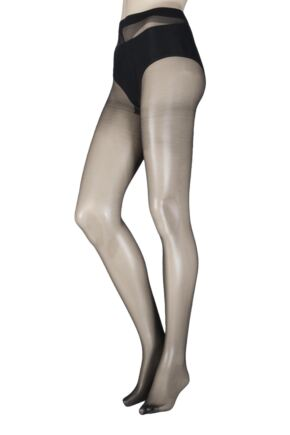 Ladies 1 Pair Elle 10 Denier Glossy Tights
