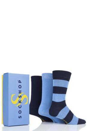 Mens 3 Pair SOCKSHOP Bamboo Bright Gift Boxed Socks