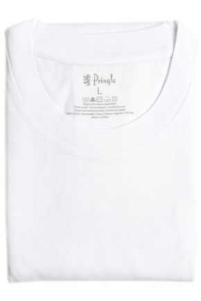Mens 2 Pack Pringle Round Neck Vests White XL