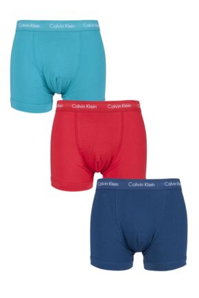 Mens 3 Pack Calvin Klein Cotton Stretch Trunks