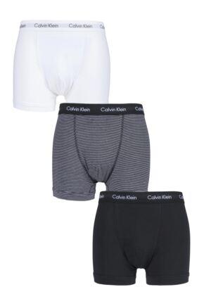 Mens 3 Pack Calvin Klein Cotton Stretch Trunks