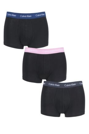 Mens 3 Pair Calvin Klein Low Rise Trunks