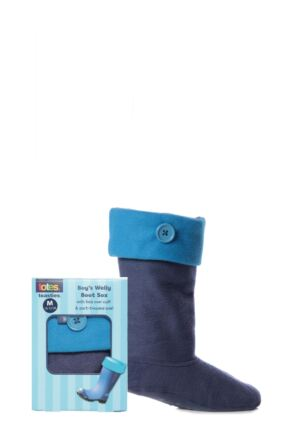 Boys 1 Pair Totes Welly Socks