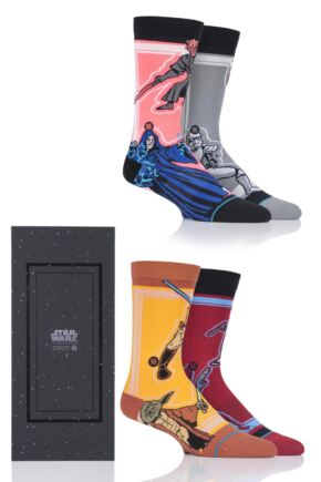 Mens and Ladies 4 Pair Stance Star Wars Collaboration Gift Boxed Socks