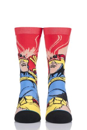 Mens and Ladies 1 Pair Stance X-Men Collaboration Cyclops Cotton Socks