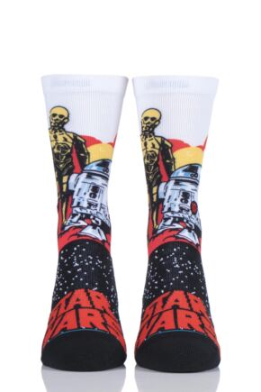 Mens and Ladies 1 Pair Stance Star Wars Collaboration Droids Cotton Socks