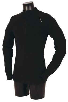 Mens 1 Pack Ussen Baltic Norj Pro Zipped Long Sleeved Polo Top