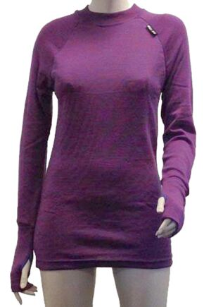 Ladies 1 Pack Ussen Baltic Crew Neck Long Sleeved Thermal T-Shirt Purple Haze S