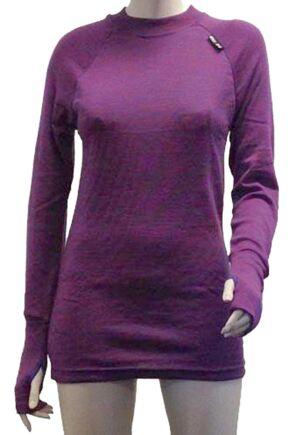 Ladies 1 Pack Ussen Baltic Crew Neck Long Sleeved Thermal T-Shirt Purple Haze XL
