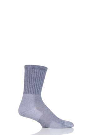 Mens and Ladies 1 Pair Thorlos Ultra Light Hiker Crew Socks Grey 3-5.5 Unisex