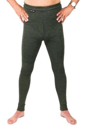 Mens 1 Pack Ussen Baltic Thermal Long Johns Olive Marl M