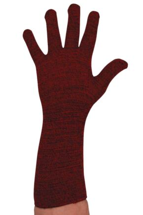 Mens 1 Pair Ussen Flight Gloves Red Marl